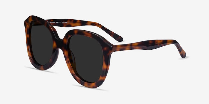 Wendy Tortoise Acetate Sunglass Frames from EyeBuyDirect, Angle View
