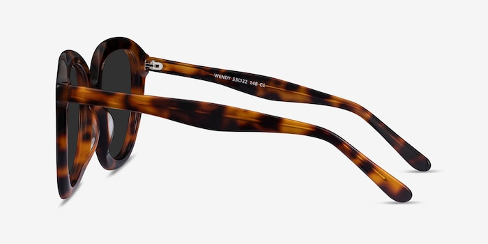 Wendy Tortoise Acetate Sunglass Frames from EyeBuyDirect, Side View