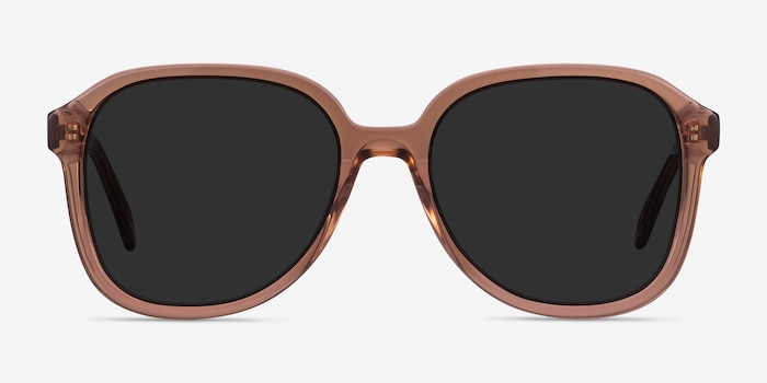 Brent Brown Acetate Sunglass Frames from EyeBuyDirect, Front View