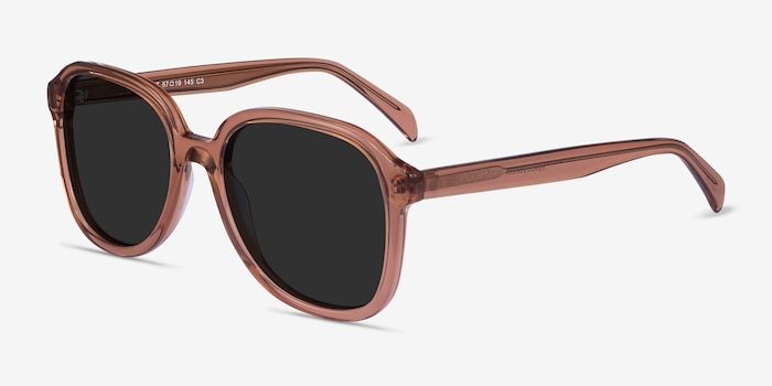 Brent Brown Acetate Sunglass Frames from EyeBuyDirect, Angle View