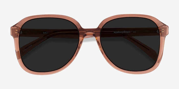 Brent Brown Acetate Sunglass Frames from EyeBuyDirect, Closed View