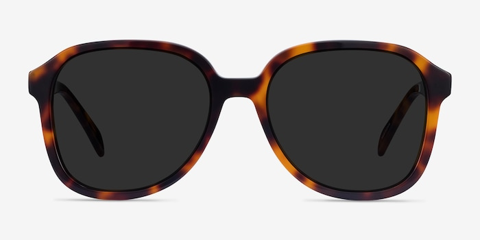 Brent Tortoise Acetate Sunglass Frames from EyeBuyDirect, Front View