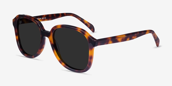 Brent Tortoise Acetate Sunglass Frames from EyeBuyDirect, Angle View