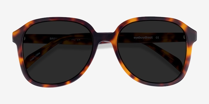 Brent Tortoise Acetate Sunglass Frames from EyeBuyDirect, Closed View
