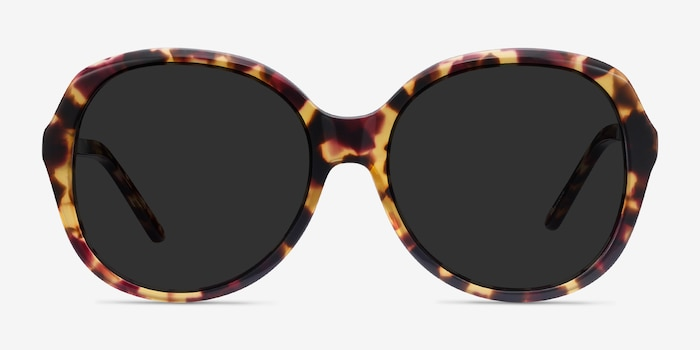 Sheila Tortoise Acetate Sunglass Frames from EyeBuyDirect, Front View