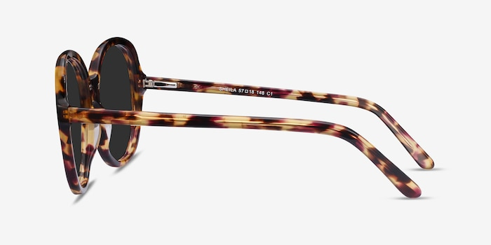 Sheila Tortoise Acetate Sunglass Frames from EyeBuyDirect, Side View