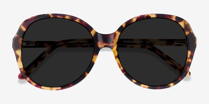 Sheila Tortoise Acetate Sunglass Frames from EyeBuyDirect, Closed View