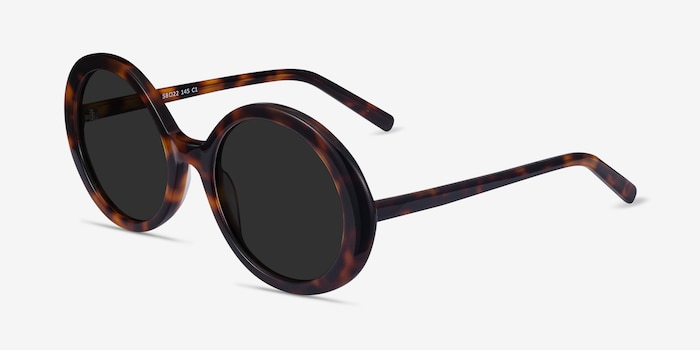 Tina Tortoise Acetate Sunglass Frames from EyeBuyDirect, Angle View