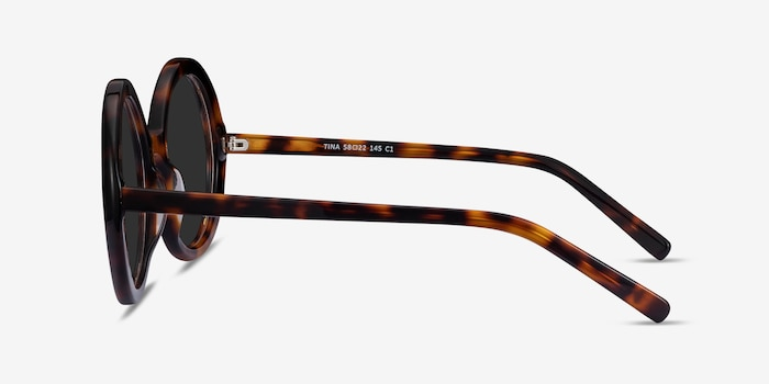 Tina Tortoise Acetate Sunglass Frames from EyeBuyDirect, Side View