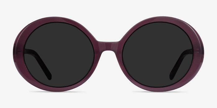 Tina Purple Acetate Sunglass Frames from EyeBuyDirect, Front View