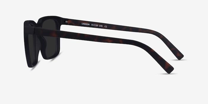 Lagoon Basalt & Warm Tortoise Plastic Sunglass Frames from EyeBuyDirect, Side View
