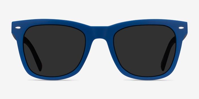 Ocean Atlantic Blue & Warm Tortoise Plastic Sunglass Frames from EyeBuyDirect, Front View
