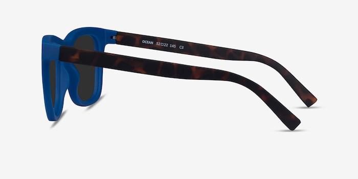 Ocean Atlantic Blue & Warm Tortoise Plastic Sunglass Frames from EyeBuyDirect, Side View