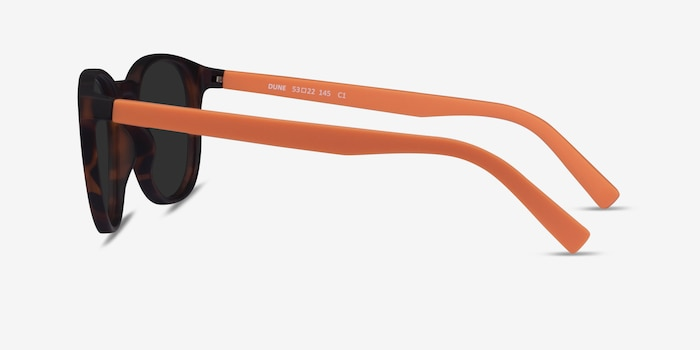 Dune Warm Tortoise & Coral Plastic Sunglass Frames from EyeBuyDirect, Side View