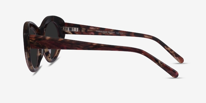 Fabulous Striped Tortoise Acetate Sunglass Frames from EyeBuyDirect, Side View