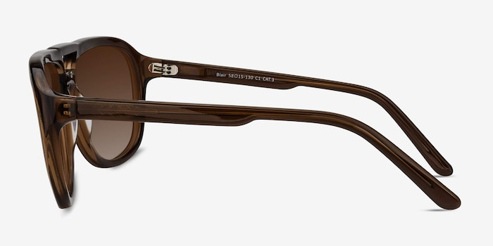 Blair Brown Acetate Sunglass Frames from EyeBuyDirect, Side View