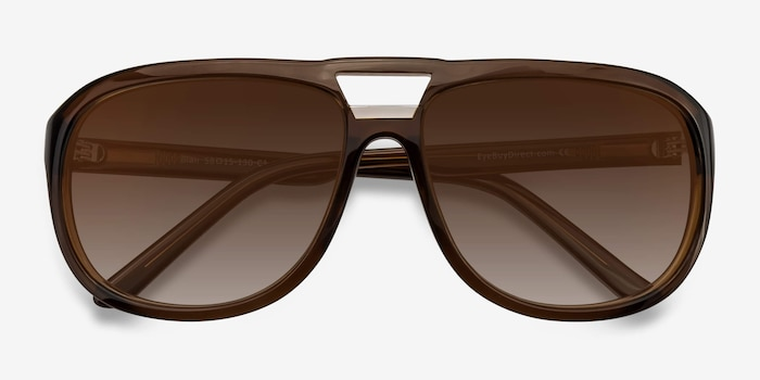 Blair Brown Acetate Sunglass Frames from EyeBuyDirect, Closed View