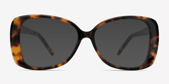 Marilyn Tortoise Acetate Sunglass Frames from EyeBuyDirect, Front View