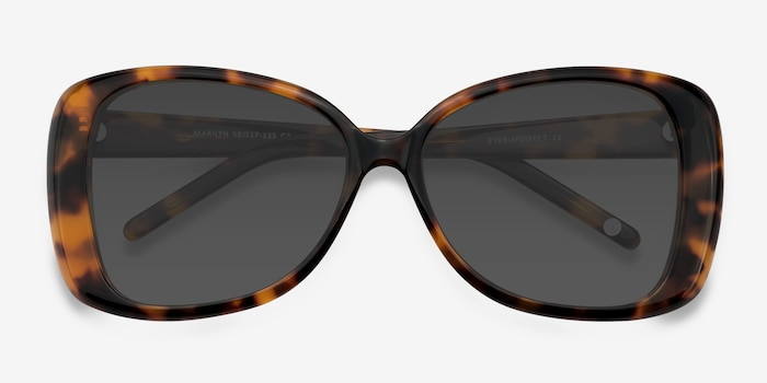 Marilyn Tortoise Acetate Sunglass Frames from EyeBuyDirect, Closed View