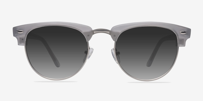 The Hamptons  Clear Silver  Acetate Sunglass Frames from EyeBuyDirect, Front View