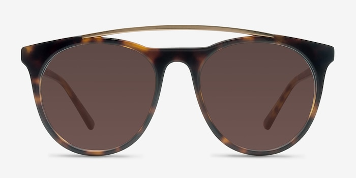 Miami Vice Tortoise Acetate Sunglass Frames from EyeBuyDirect, Front View