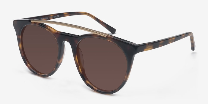 Miami Vice Tortoise Acetate Sunglass Frames from EyeBuyDirect, Angle View