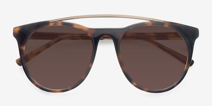 Miami Vice Tortoise Acetate Sunglass Frames from EyeBuyDirect, Closed View