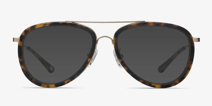 Duke Tortoise Acetate Sunglass Frames from EyeBuyDirect, Front View
