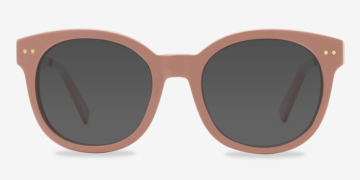 Till Sunset Pink Acetate Sunglass Frames from EyeBuyDirect, Front View