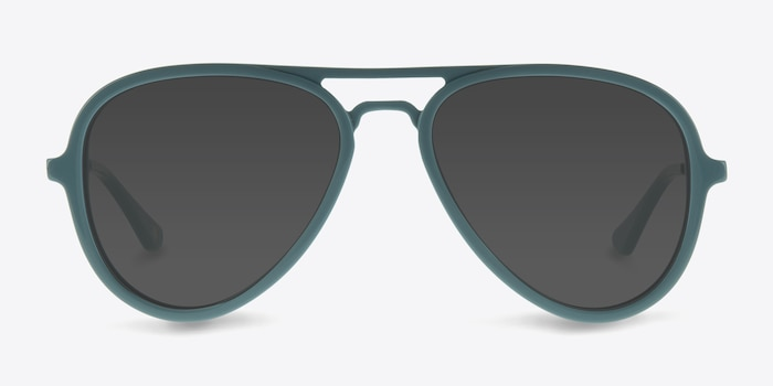 Riot  Light Blue  Acetate Sunglass Frames from EyeBuyDirect, Front View