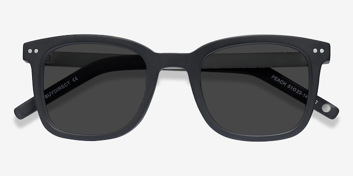 Peach Matte Black Acetate Sunglass Frames from EyeBuyDirect, Closed View