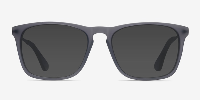 Bogota Matte Gray Acetate-metal Sunglass Frames from EyeBuyDirect, Front View