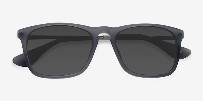 Bogota Matte Gray Acetate-metal Sunglass Frames from EyeBuyDirect, Closed View