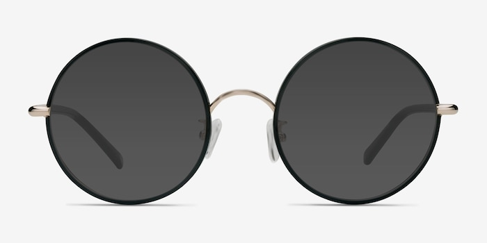 Mojo Black Acetate Sunglass Frames from EyeBuyDirect, Front View