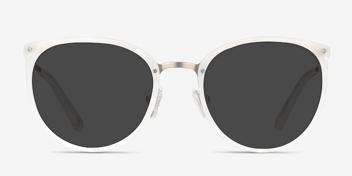 Crush Ivory Metal Sunglass Frames from EyeBuyDirect, Front View