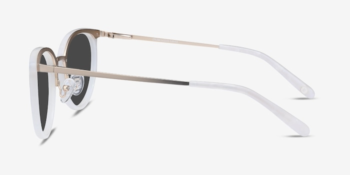 Crush Ivory Metal Sunglass Frames from EyeBuyDirect, Side View
