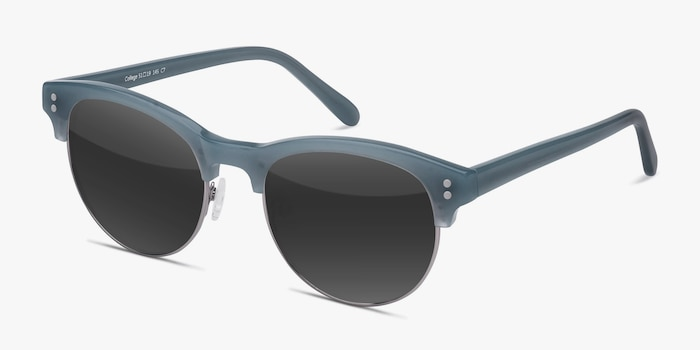 College Light Blue Acetate Sunglass Frames from EyeBuyDirect, Angle View