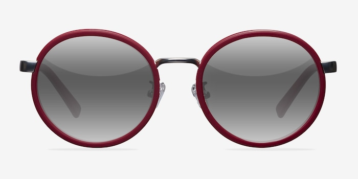 Lady Bird Matte Red Acetate Sunglass Frames from EyeBuyDirect, Front View