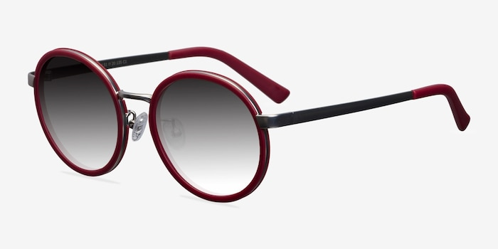 Lady Bird Matte Red Acetate Sunglass Frames from EyeBuyDirect, Angle View