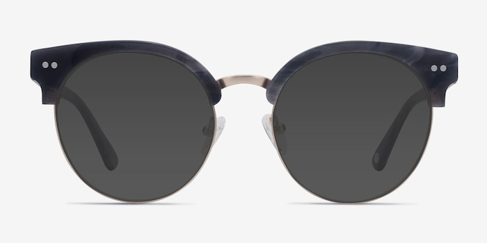 Silicate Gray Acetate Sunglass Frames from EyeBuyDirect, Front View