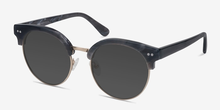 Silicate Gray Acetate Sunglass Frames from EyeBuyDirect, Angle View