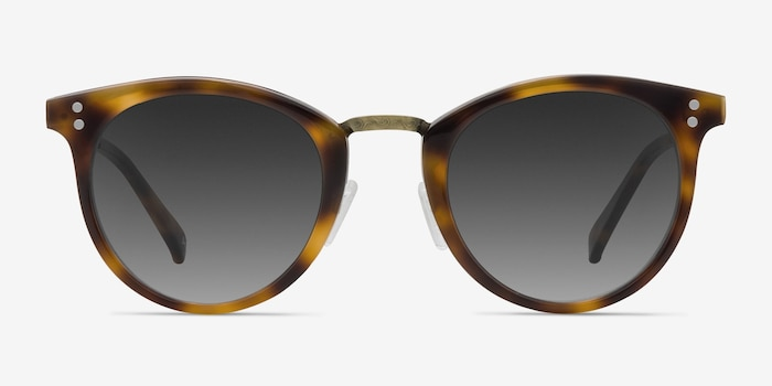 Sun Nostalgia Caramel Acetate-metal Sunglass Frames from EyeBuyDirect, Front View