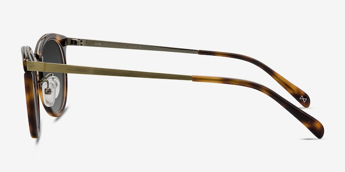 Sun Nostalgia Caramel Acetate-metal Sunglass Frames from EyeBuyDirect, Side View