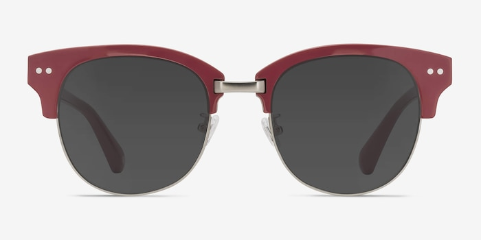 Swift Red Acetate Sunglass Frames from EyeBuyDirect, Front View