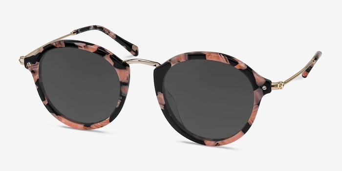 Atmos Floral Acetate Sunglass Frames from EyeBuyDirect, Angle View