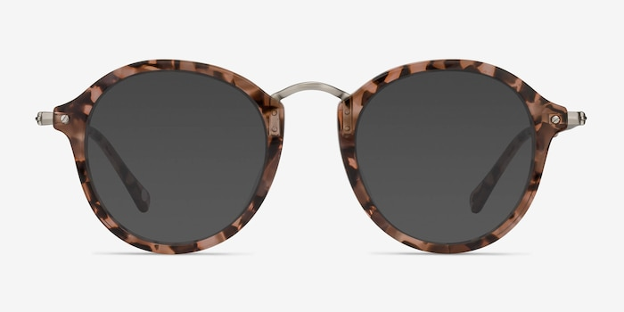 Atmos Brown Floral Acetate Sunglass Frames from EyeBuyDirect, Front View