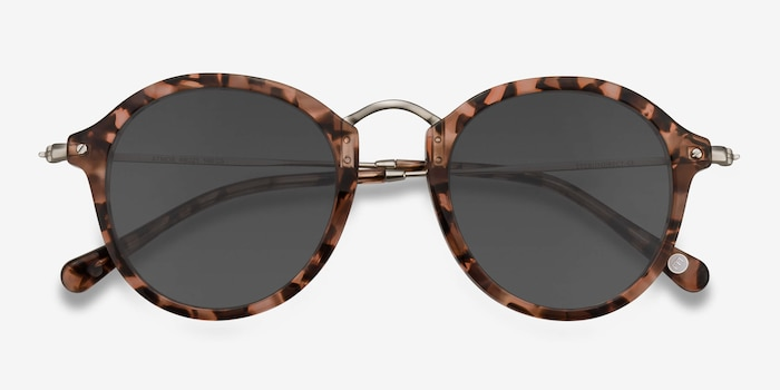Atmos Brown Floral Acetate Sunglass Frames from EyeBuyDirect, Closed View