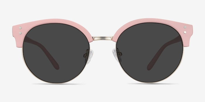 Samba Pink Metal Sunglass Frames from EyeBuyDirect, Front View