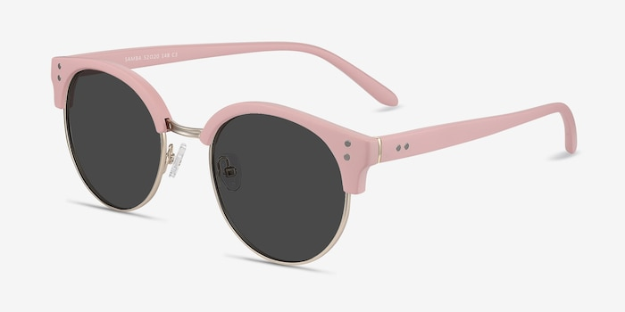 Samba Pink Metal Sunglass Frames from EyeBuyDirect, Angle View