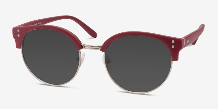 Samba Red Metal Sunglass Frames from EyeBuyDirect, Angle View